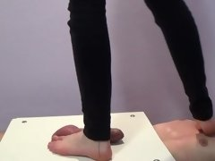 under the feet of two girls - part3 - CBT trample