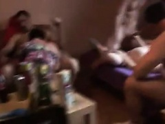 Pregnant girl On hook-up Party