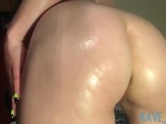 Worship my oiled up Domina Goddess ass hole & pussy