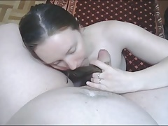Silky Russian Hairjob and Cum in Hair, Long Hair, Hair