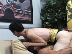 Man delights with 2 snatches in home female domination xxx