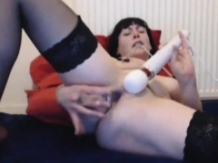 Two mature British lesbians in stockings