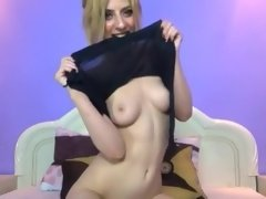 Amazing webcam Blonde, Shaved clip with SabinaMarble whore.