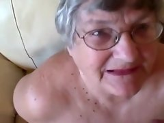 Amazing Homemade video with Grannies, Facial scenes
