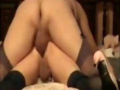 Amazing homemade Stockings, BBW sex scene