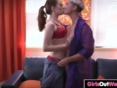"""Hairy lesbian girls oral sex and finger-fucking"""