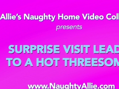 SURPRISE VISIT LEADS TO A HOT THREESOME