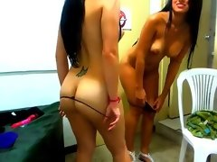 topless girls dance n tease on webcam