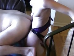 She's pegging her bf with 12-inch cock