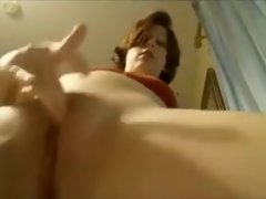 Horny amateur films herself rubbing her meaty mound