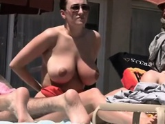 Beach Movie Lady with Natural Tits Nude
