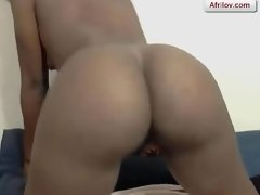 Afrilov Mix #2 - HyperCute african Girl Doing Anal With A Big Dildo