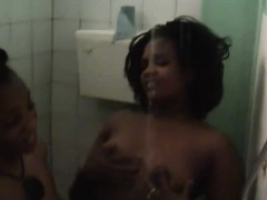 Nasty lesbian African sluts with big natural tits	 shaved