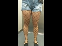 I fuck and cum inside my tinder date in fishnet stockings - eroyamka
