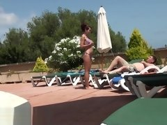 German Camgirl fuck at the Hotel-Pool
