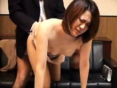 Enticing Japanese wife fucks a hard rod every way she can o