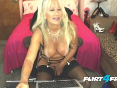 Naughty Milf Gets Off With Her Dildo and Filthy Mouth